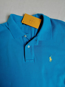 Playera azul polo