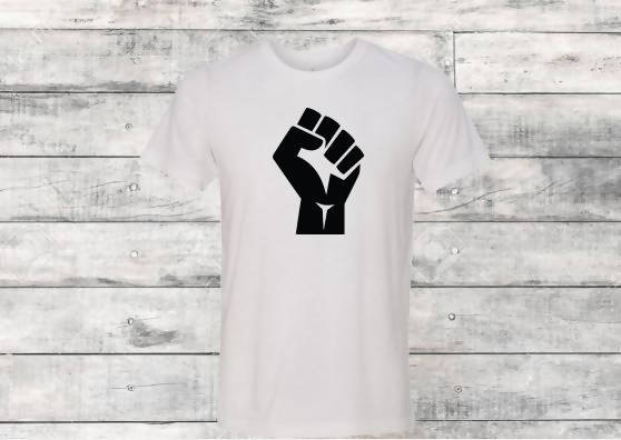 BLM Fist White T-Shirt
