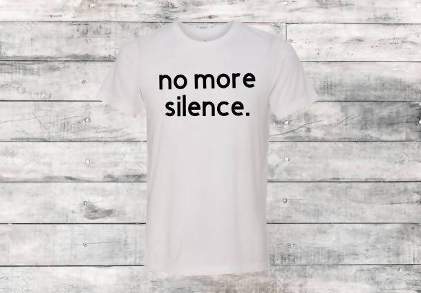 No More Silence White T-Shirt
