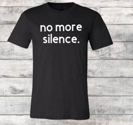 No More Silence Black T-Shirt