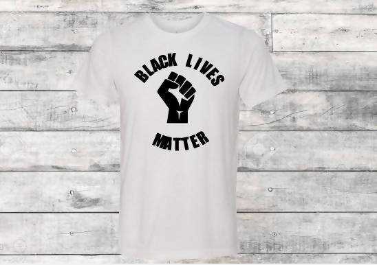 Black Lives Matter White T-Shirt