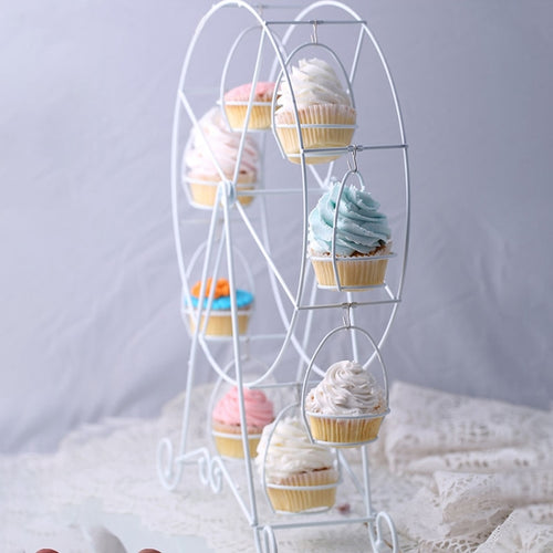 Rotatable Cupcake European White Wheel