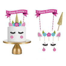 Load image into Gallery viewer, DIY Pink Unicorn Cake Topper 1/set