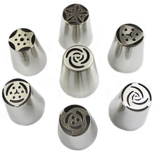 Load image into Gallery viewer, Russian Piping Tips 7Pc/Set