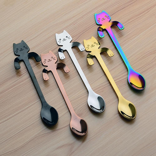 Cute Cats Spoon Dessert Tea 4PCS