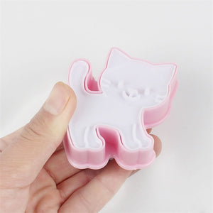 Hello Kitten Cookie Cutter Molds