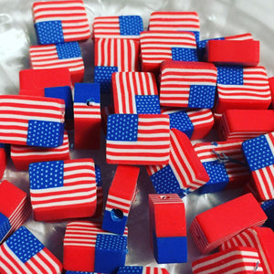 American Flag Beads