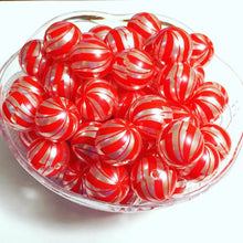 Load image into Gallery viewer, Peppermint Swirl Beads