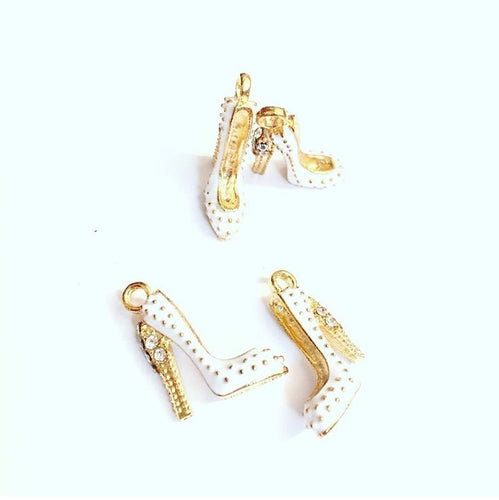 White High Heel Shoe Charms