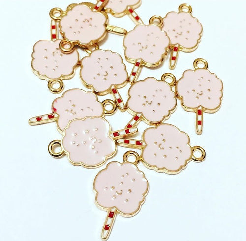Pink Cotton Candy Charms