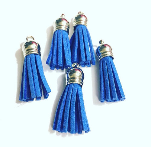 Blueberry Blue Tassel Charms