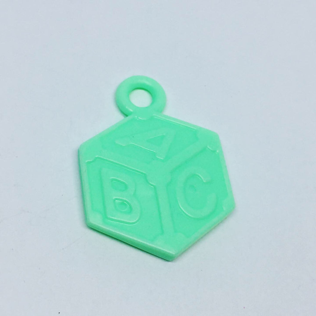 Mint ABC Block Charms