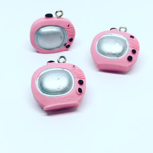 Pink Television Charms