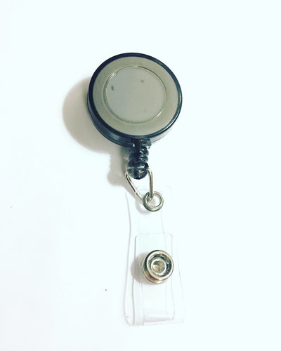 Black Name Badge Reel