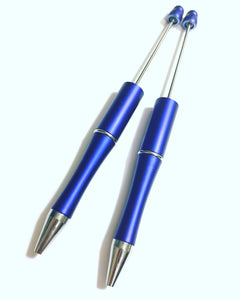 Blue and Silver Beadable Pens