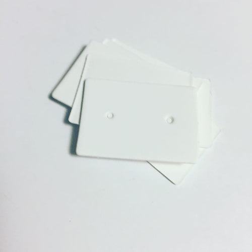 White Earring Display Cards