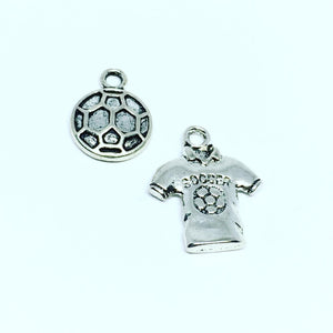 Soccer Ball and Jersey Charms Set