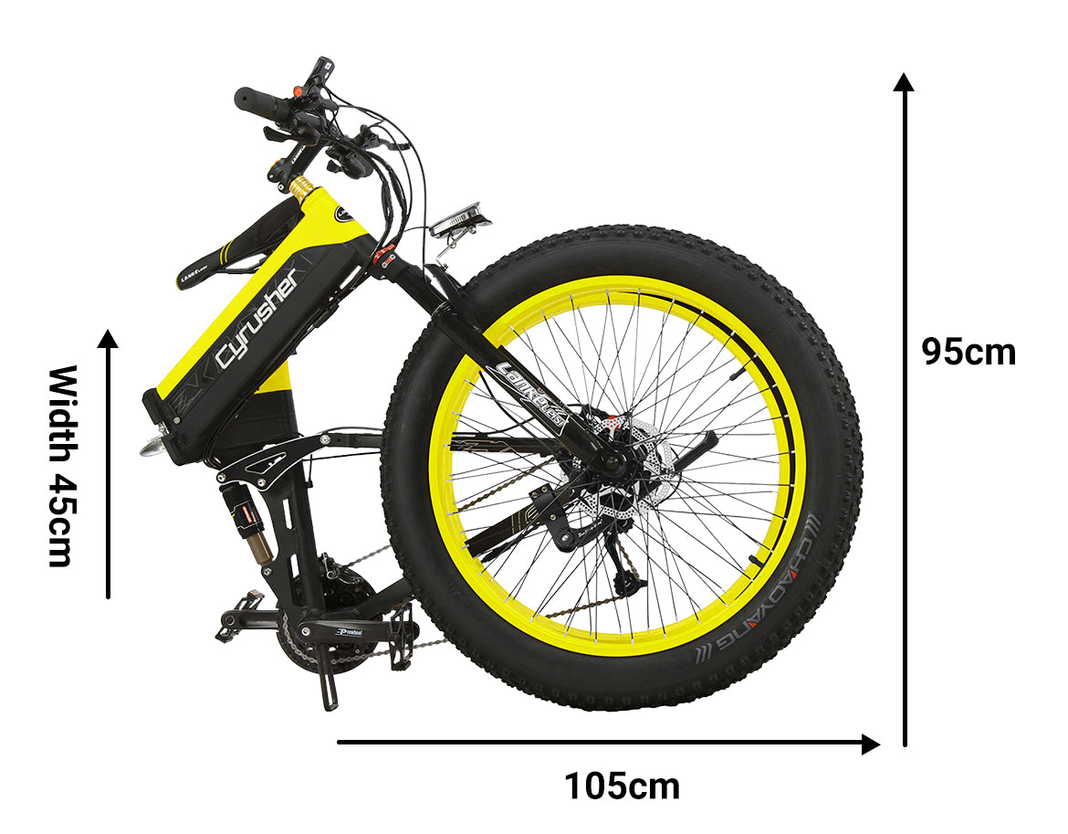 XF690 500W 48V 10AH 7 Speeds Folding Electric Fat Bike