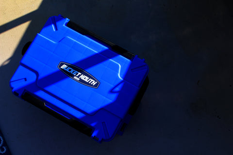 Blue Bucket Mouth Tackle Box for Fishing Gear