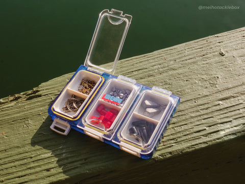 Meiho Tackle Box Flip Folding Case with Gear