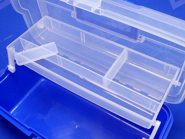 2 Removable Plastic Dividers Create Multiple Storage Compartments