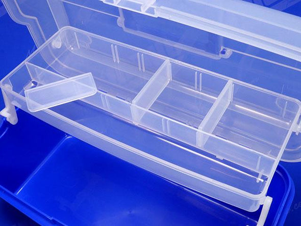 3 Removable Plastic Dividers Create Multiple Storage Compartments
