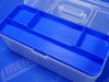 Blue Plastic Compartment Tray Inside Tackle Box