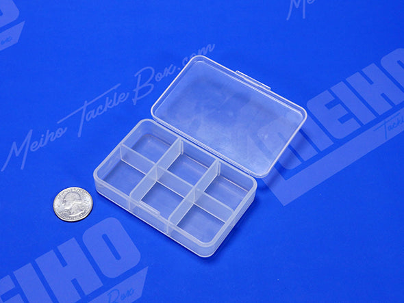 Square Plastic Container With 6 Compartments