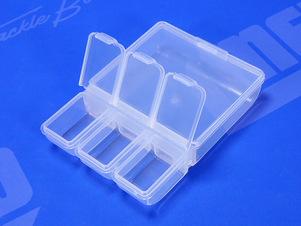 3 Individual Hinged Lid Storage Sections