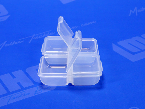 4 Compartment Container With Individual Hinged Lids