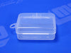 Plastic Container With Hinge Attached Lid