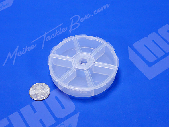 Round Hinged Lid Plastic Compartment Case