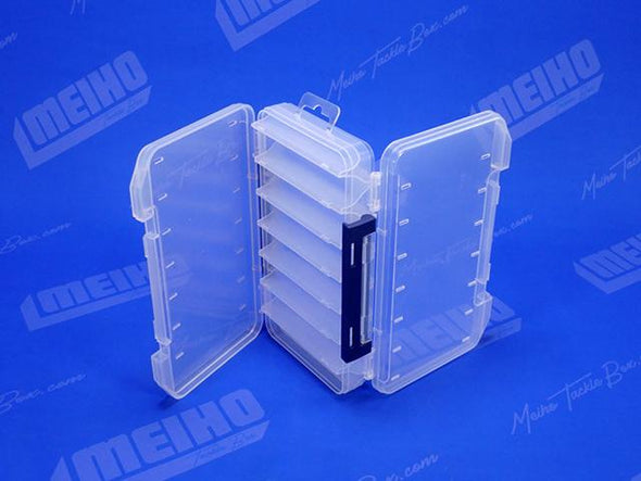 Two Hinged Lids On Reversible 100 Plastic Case