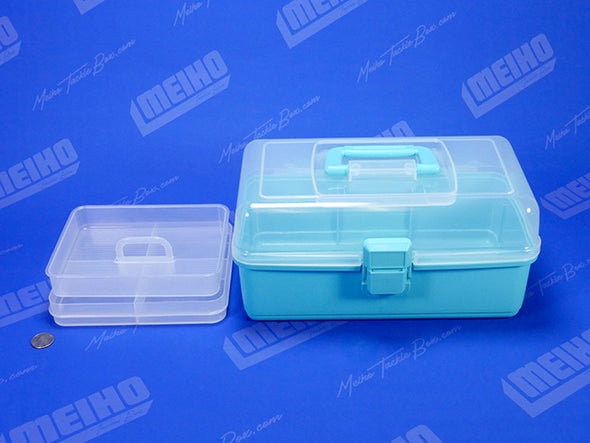 Plastic Tackle Box With Handle and Removable Tray