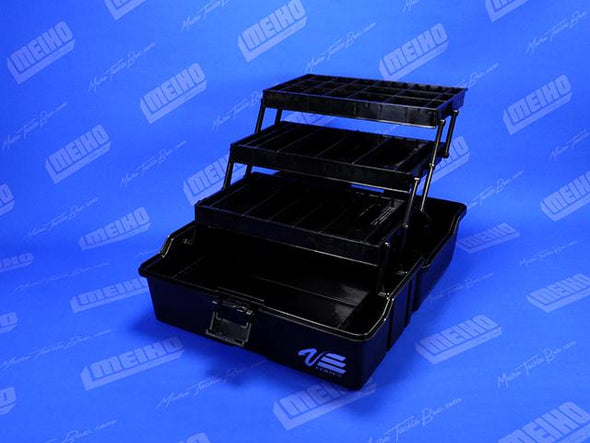 Hinged Lid Plastic Tackle Box With Trays