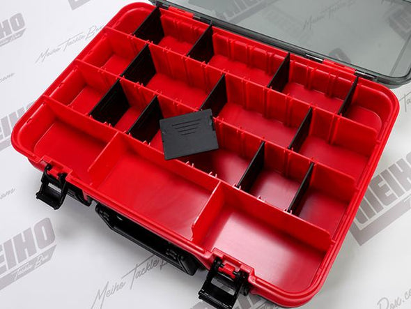 12 Removable Plastic Dividers In Top Lid Storage Area