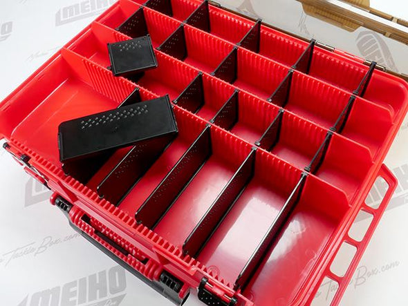 22 Removable Plastic Dividers In Top Lid Storage Area