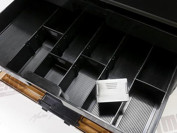 Multiple Fixed and Removable Plastic Dividers Inside Each Drawer