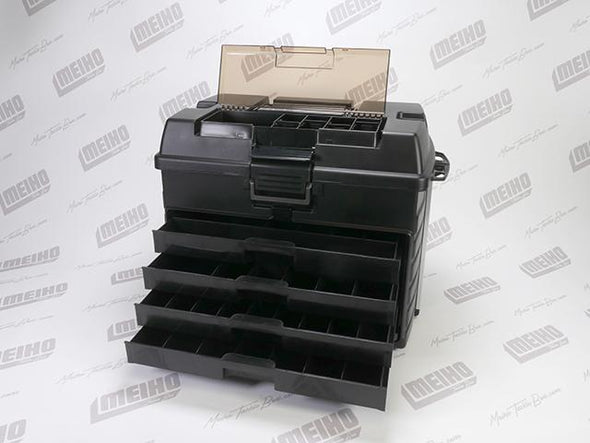 Hinged Lid Plastic Fishing Tackle Box With Drawers