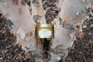 Birch Gold Tin Candle - True Nature Candle Co.