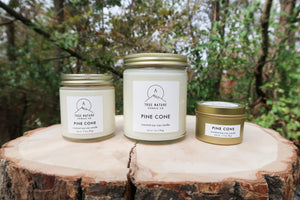 Pine Cone Candle Set - True Nature Candle Co.