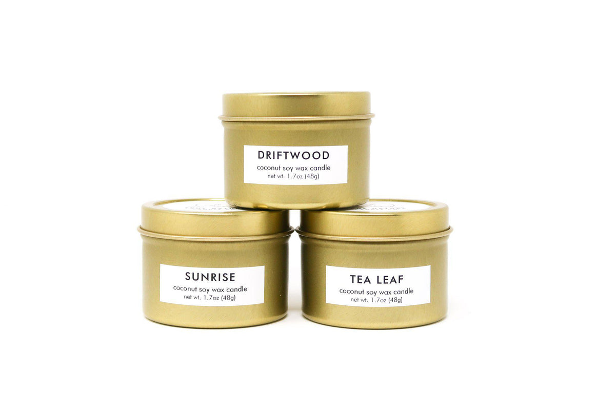 Gold Tin Candle Bundle - Sample Set - True Nature Candle Co.