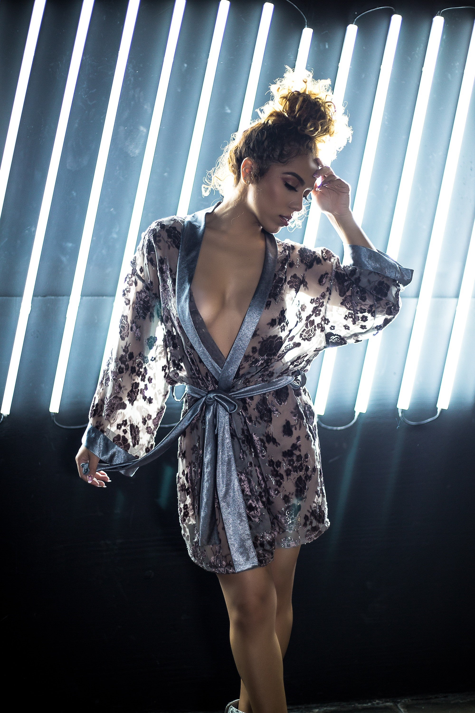 Day or Night Wrap Styled Robe-Dress