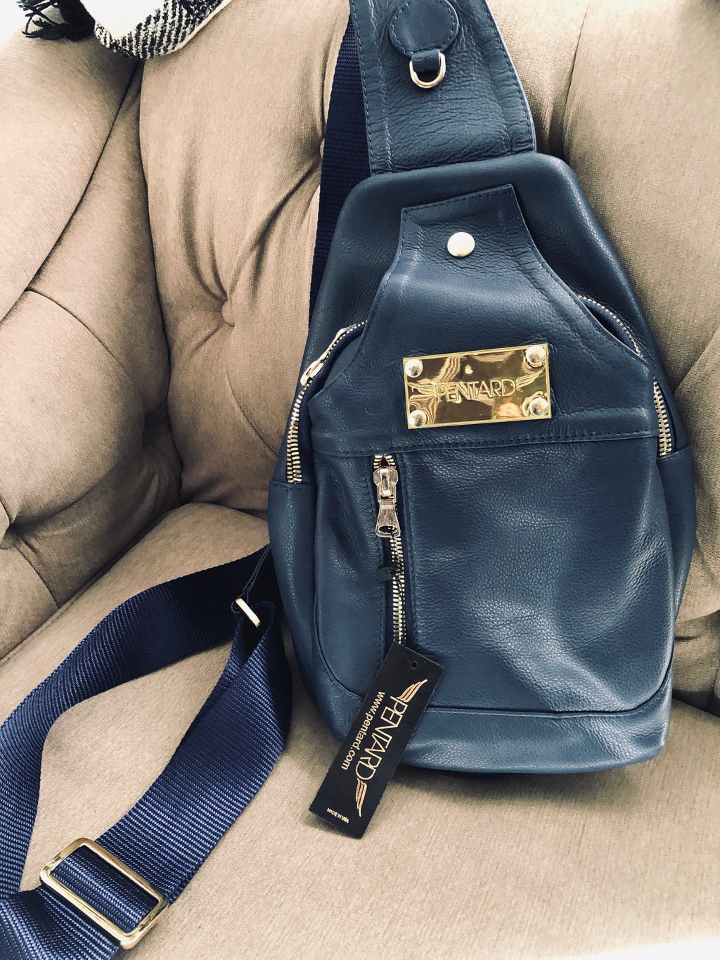 Unisex Crossbody Bag-Navy