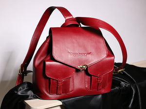 Red Pentard Leather Travel Bag