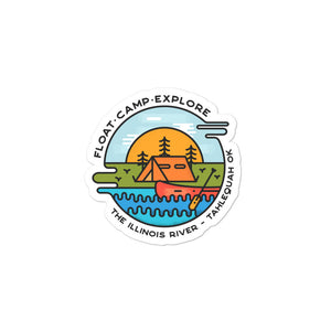 Fload-Camp-Explore Illinois River Sticker