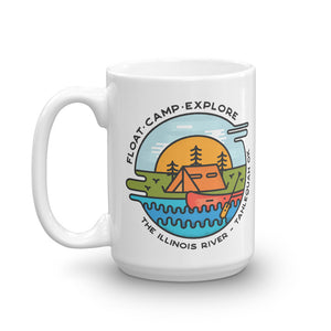 Float-Camp-Explore Illinois River Mug