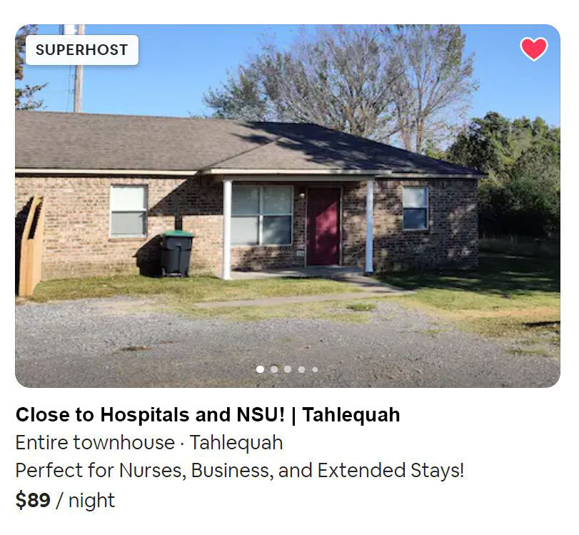 extended stay apartment on airbnb near northeastern health systems and cherokee nation hostpital perfect for nurses
