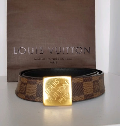 Louis Vuitton Ebene Belt