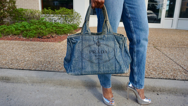 Prada Denim Tote - Sheree & Co. Designer Consignment